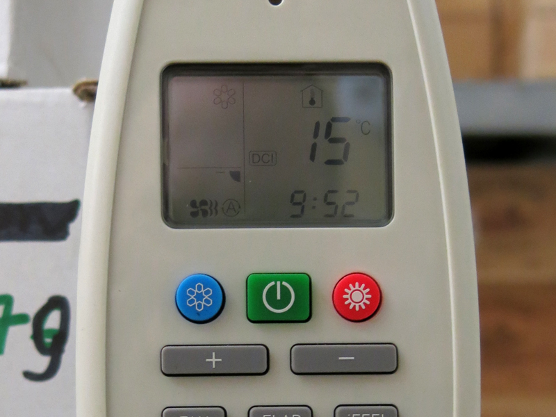 Temperature and hygrometry controlled 24 hours a day