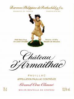 Château d'Armailhac 2014 Caisse bois d'origine de 6 bouteilles (6x75cl)