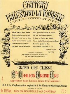 Château Balestard La Tonnelle 2000 Caisse bois d'origine de 12 bouteilles (12x75cl)