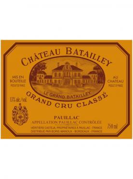 Château Batailley 2006 Caisse bois d'origine de 6 magnums (6x150cl)