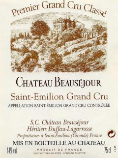 Château Beauséjour Duffau Lagarrosse 1979 Bouteille (75cl)