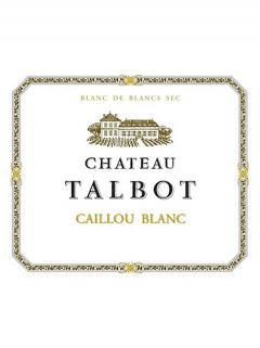 Caillou Blanc de Château Talbot 2018 Caisse bois d'origine de 12 bouteilles (12x75cl)