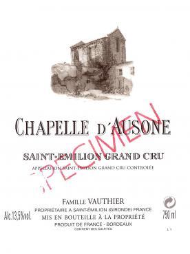 Chapelle d'Ausone 2015 Caisse bois d'origine de 3 magnums (3x150cl)