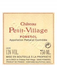 Château Petit-Village 2013 Caisse bois d'origine de 6 bouteilles (6x75cl)