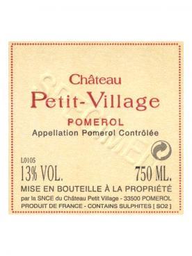Château Petit-Village 2012 Caisse bois d'origine de 12 demi bouteilles (12x37.5cl)