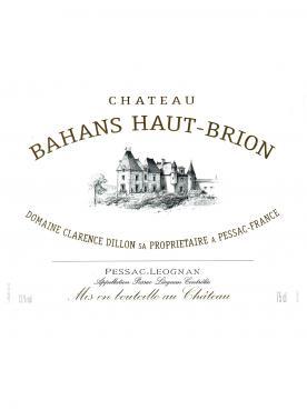 Château Bahans Haut-Brion 2004 Caisse bois d'origine de 12 bouteilles (12x75cl)
