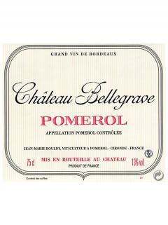 Château Bellegrave (Pomerol) 2011 Caisse bois d'origine de 12 bouteilles (12x75cl)
