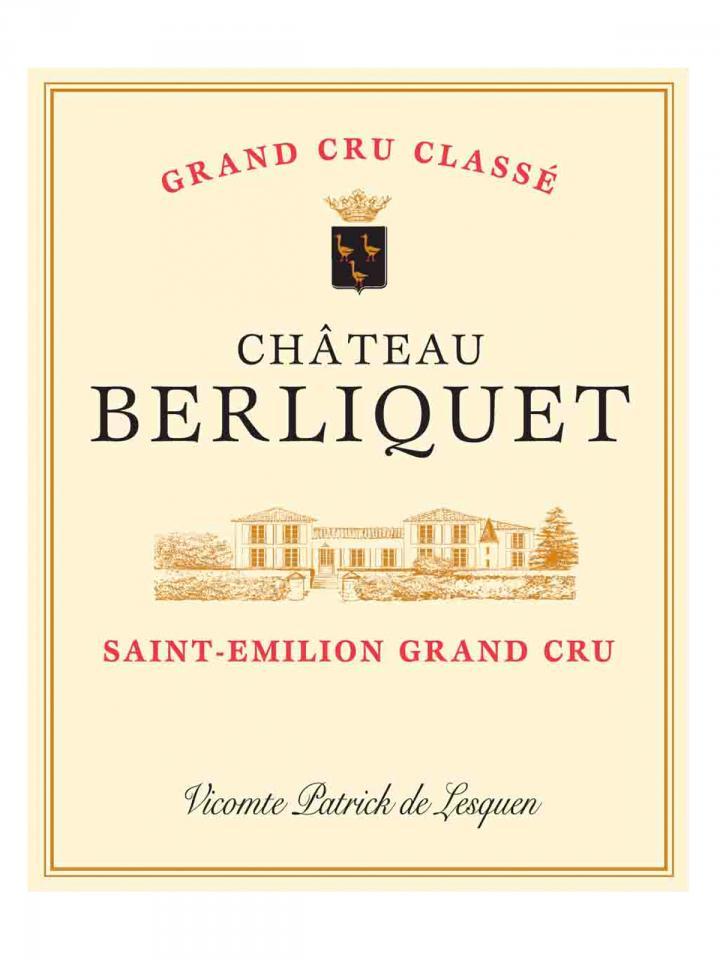 Château Berliquet 2012 Caisse bois d'origine de 12 bouteilles (12x75cl)