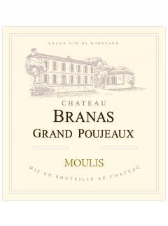 Château Branas Grand Poujeaux 2018 Caisse bois d'origine de 6 bouteilles (6x75cl)