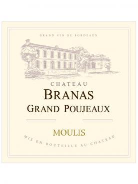 Château Branas Grand Poujeaux 2015 Caisse bois d'origine de 6 bouteilles (6x75cl)