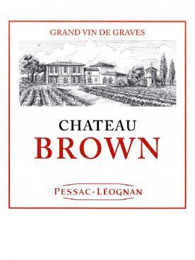 Château Brown 2016 Caisse bois d'origine de 12 bouteilles (12x75cl)