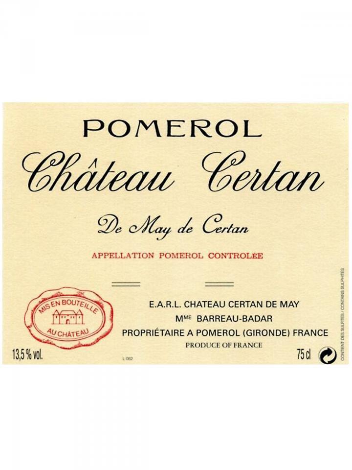 Château Certan de May 2012 Bouteille (75cl)