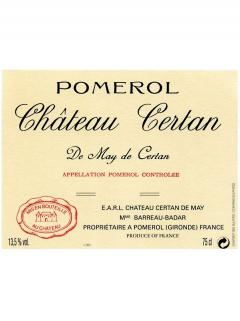 Château Certan de May 2012 Caisse bois d'origine de 6 bouteilles (6x75cl)