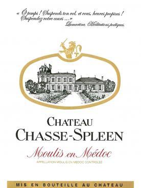 Château Chasse-Spleen 1981 Caisse bois d'origine de 12 bouteilles (12x75cl)