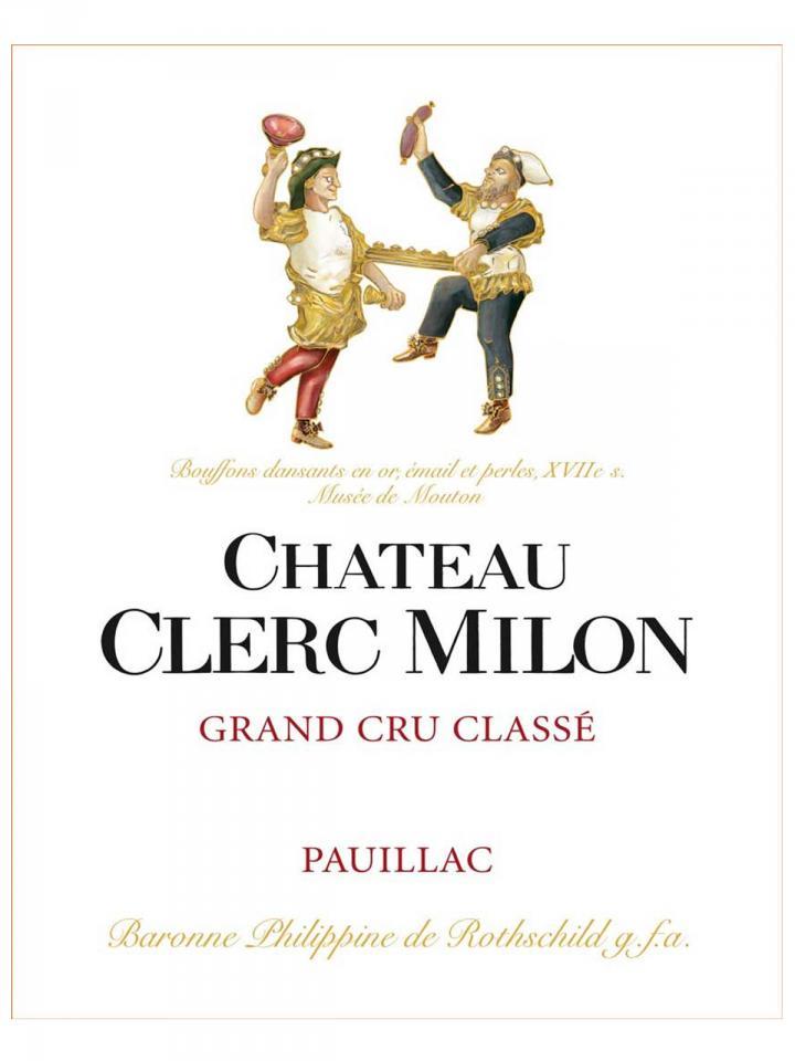 Château Clerc Milon 2010 Caisse bois d'origine de 12 bouteilles (12x75cl)