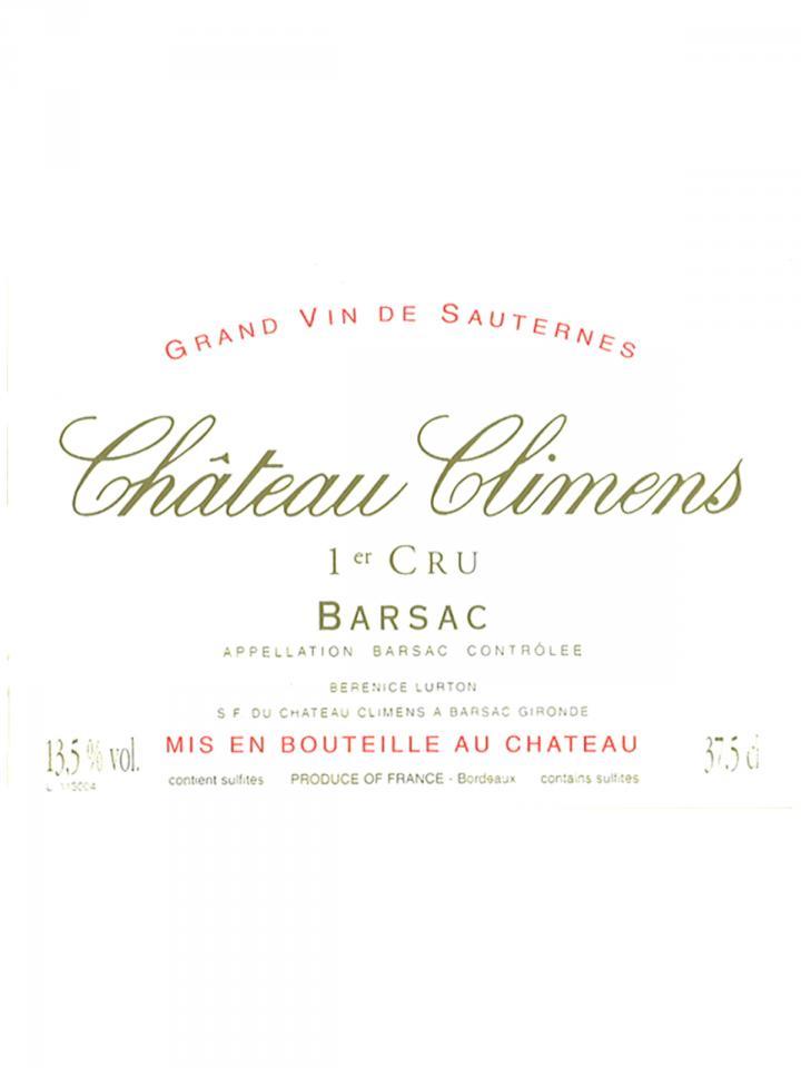 Château Climens 2007 Caisse bois d'origine de 24 demi bouteilles (24x37.5cl)
