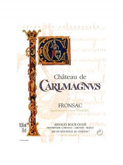 Château de Carlmagnus 2015 Caisse bois d'origine de 6 bouteilles (6x75cl)