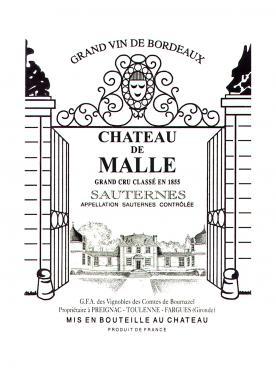 Château de Malle 2009 Caisse bois d'origine de 12 bouteilles (12x75cl)