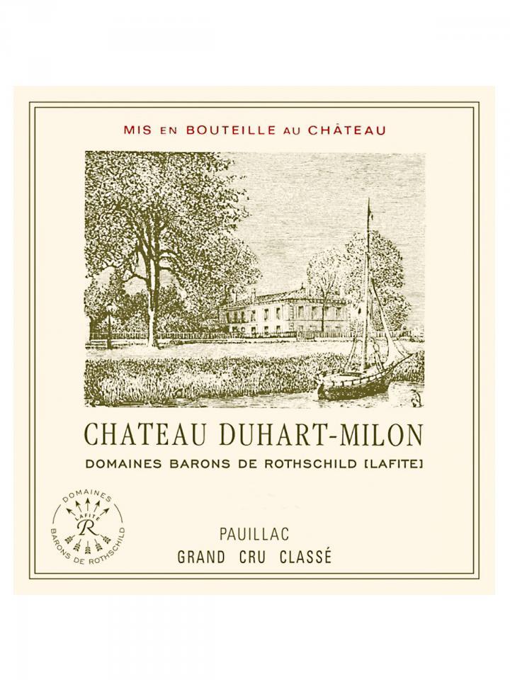 Château Duhart-Milon 1996 Caisse bois d'origine de 12 bouteilles (12x75cl)