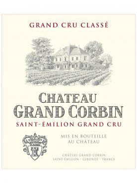 Château Grand Corbin 2018 Caisse bois d'origine de 6 bouteilles (6x75cl)