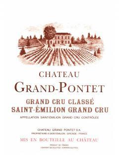 Château Grand Pontet 2012 Caisse bois d'origine de 12 bouteilles (12x75cl)