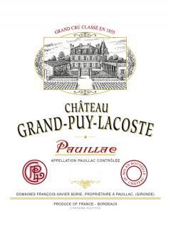 Château Grand-Puy-Lacoste 2014 Caisse bois d'origine de 12 bouteilles (12x75cl)