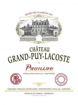 Château Grand-Puy-Lacoste 1978 Caisse bois d'origine de 12 bouteilles (12x75cl)