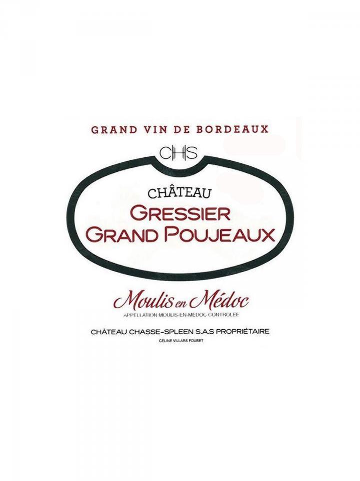 Château Gressier Grand Poujeaux 2012 Caisse bois d'origine de 12 bouteilles (12x75cl)