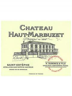 Château Haut-Marbuzet 2015 Caisse bois d'origine de 6 bouteilles (6x75cl)