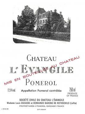 Château l'Evangile 2010 Caisse bois d'origine de 6 bouteilles (6x75cl)