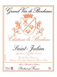 Château la Bridane 2016 6 bouteilles (6x75cl)