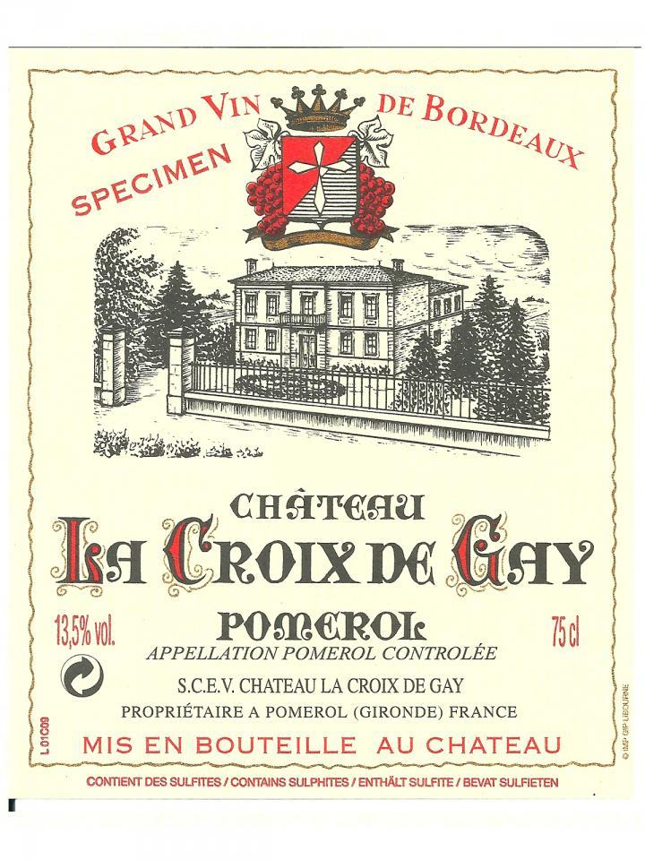 Château La Croix de Gay 2013 Caisse bois d'origine de 6 bouteilles (6x75cl)