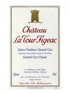 Château La Tour Figeac 2015 Caisse bois d'origine de 12 bouteilles (12x75cl)