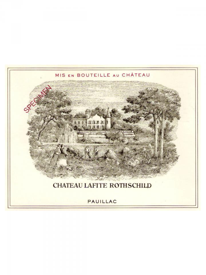Château Lafite Rothschild 1982 Caisse bois d'origine de 12 bouteilles (12x75cl)