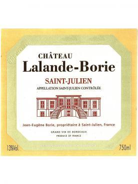 Château Lalande-Borie 2014 Bouteille (75cl)