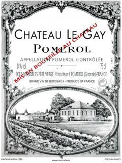 Château Le Gay 2016 Caisse bois d'origine de 6 bouteilles (6x75cl)