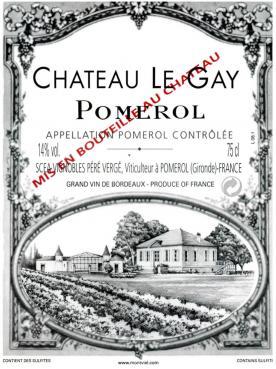 Château Le Gay 2018 Caisse bois d'origine de 6 bouteilles (6x75cl)