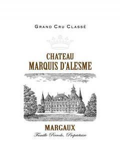 Château Marquis d'Alesme 2016 Caisse bois d'origine de 12 bouteilles (12x75cl)