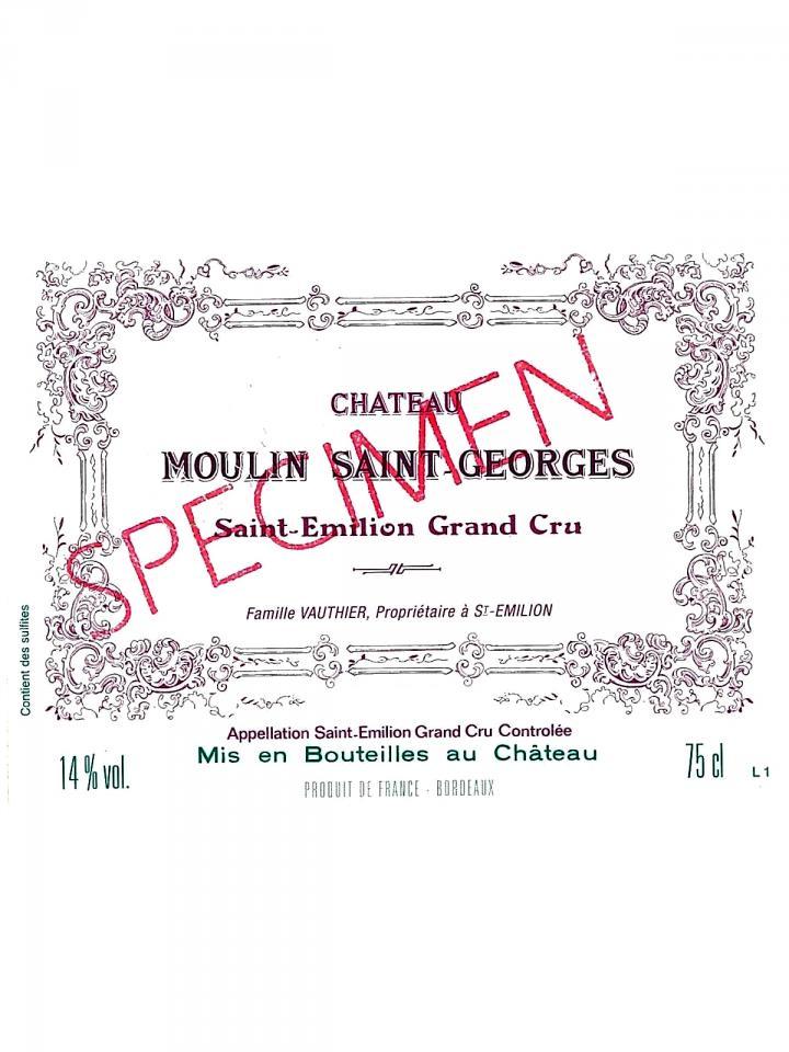 Château Moulin Saint-Georges 2014 Caisse bois d'origine de 12 bouteilles (12x75cl)