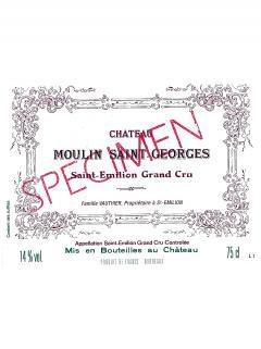 Château Moulin Saint-Georges 2013 Caisse bois d'origine de 12 bouteilles (12x75cl)