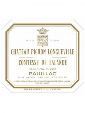 Château Pichon-Longueville Comtesse de Lalande 1986 Caisse bois d'origine de 6 bouteilles (6x75cl)