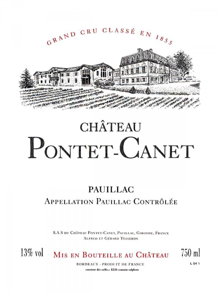 Château Pontet-Canet 2013 Caisse bois d'origine de 12 bouteilles (12x75cl)