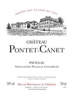 Château Pontet-Canet 2000 Caisse bois d'origine de 6 bouteilles (6x75cl)