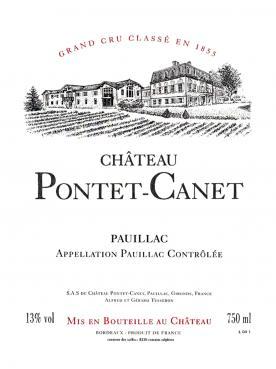 Château Pontet-Canet 1989 Caisse bois d'origine de 12 bouteilles (12x75cl)
