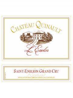 Château Quinault L'Enclos 2014 Caisse bois d'origine de 6 bouteilles (6x75cl)