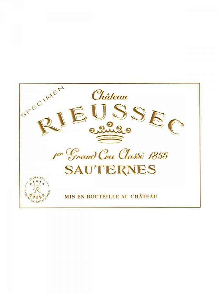 Château Rieussec 1999 Caisse bois d'origine de 12 bouteilles (12x75cl)
