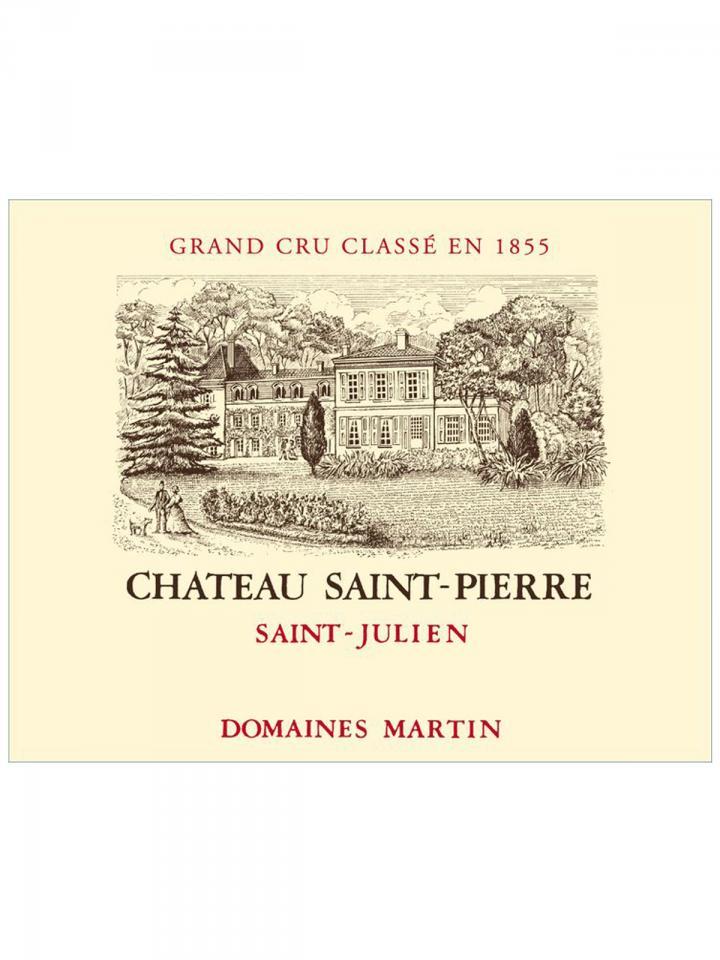 Château Saint-Pierre 2012 Caisse bois d'origine de 6 bouteilles (6x75cl)