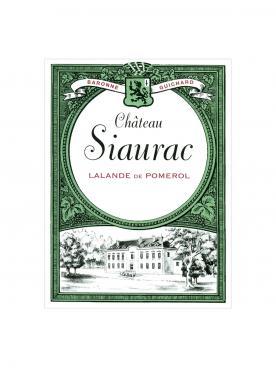 Château Siaurac 2018 12 bouteilles (12x75cl)