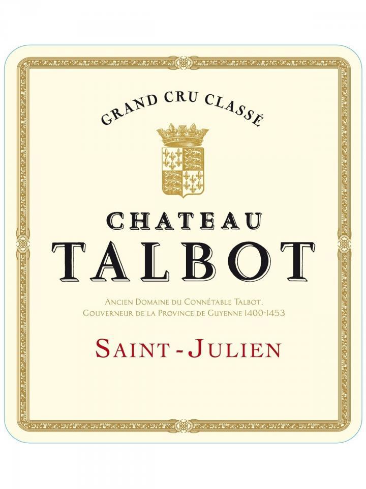 Château Talbot 2002 Caisse bois d'origine de 12 bouteilles (12x75cl)