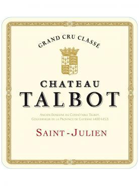 Château Talbot 1992 Caisse bois d'origine de 12 bouteilles (12x75cl)
